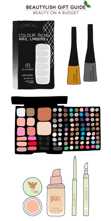 Check out the latest Beautylish Gift Guide for beauty on a budget. Get cheap and cheerful gifts that won't break the bank!