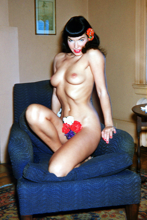 Bettie Page photographed by Charles West c. 1955-1956