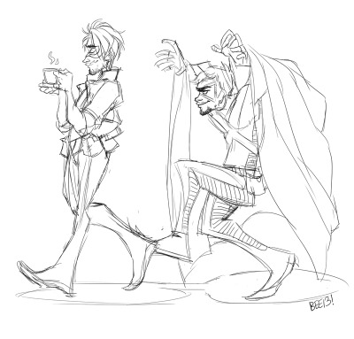 tenaciousbee:  Sketching X-Ray and Vav stuffs idk lol