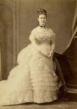 Duchess Marie of Mecklenburg-Schwerin, later Gdss Maria Pavlovna (the elder) of Russia. Mids 1870s, during her engagement with Gd Vladimir Alexandrovich.