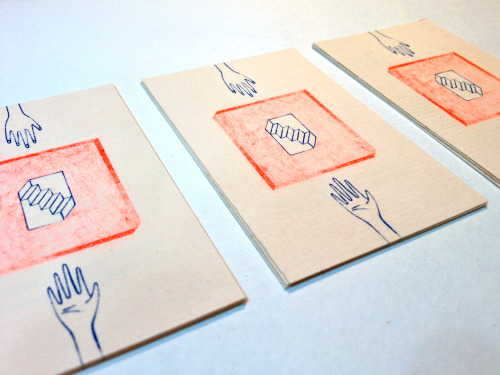 Business cards!Printed at the awesome Risoprint Lab Ink'chacha