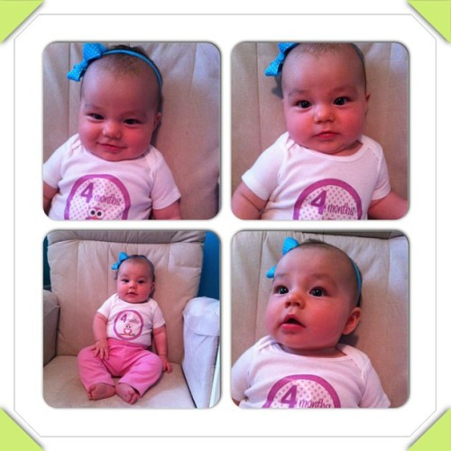 Happy four months, Brynna!#instacollage