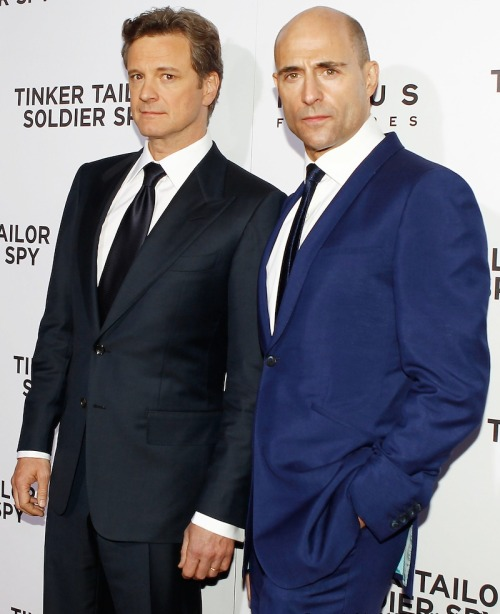 mayu-n:  Colin Firth and Mark Strong attend the premiere of 'Tinker Tailor Soldier Spy' at Cinerama Dome at The Arclight Hollywood on December 6, 2011 in Hollywood, CA. Every time I watched 'TTSS', untold story of their friendship broke my heart.