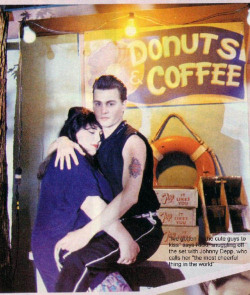 bohemea:  Johnny Depp & Ricki Lake on the set of Cry-Baby (1990)
