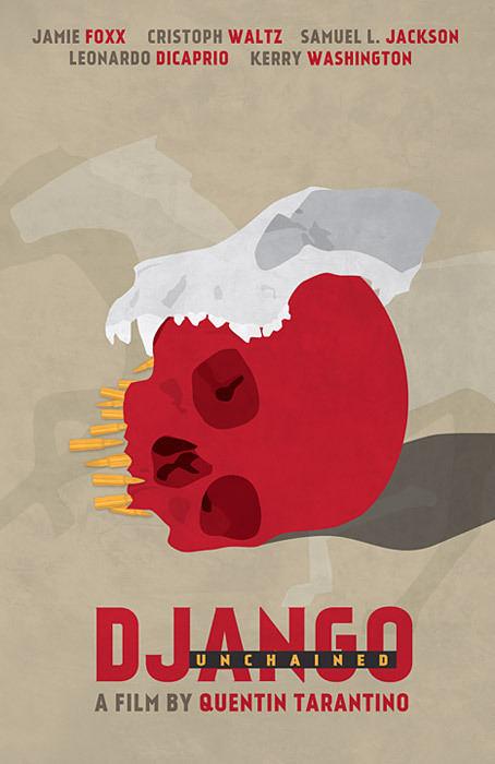 Django Unchained poster.Watched the movie yesterday; had to make a poster today :)