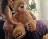 Stubbornlittleone me my new teddy bear @stubbornlittleone