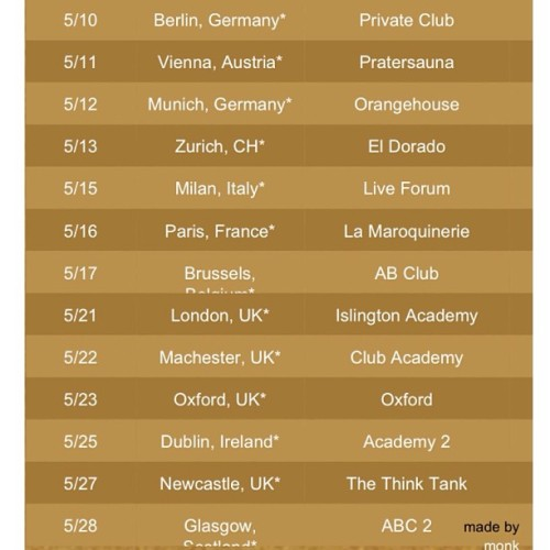 Our tour just got extended to Europe! We in this thing breh! CC: @dumbfoundead @gwatsky