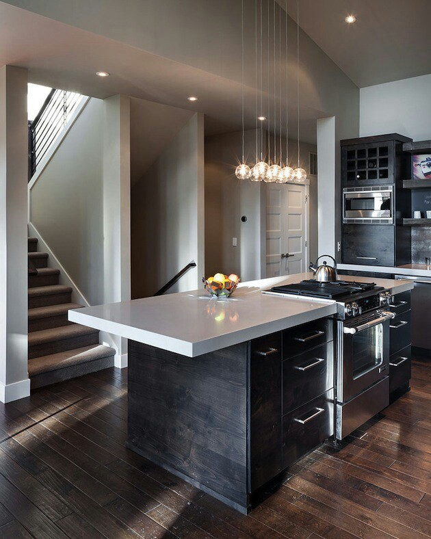 A sleek modern kitchen