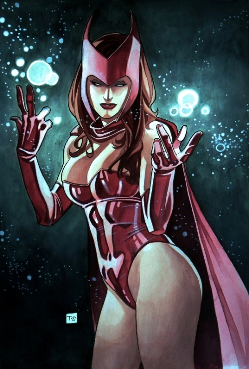 xombiedirge:  Scarlet Witch by Thony Silas / Blog