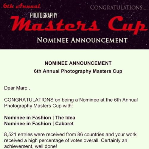 Thank you! Nominated for the 6th Annual Photography Masters Cup! :)