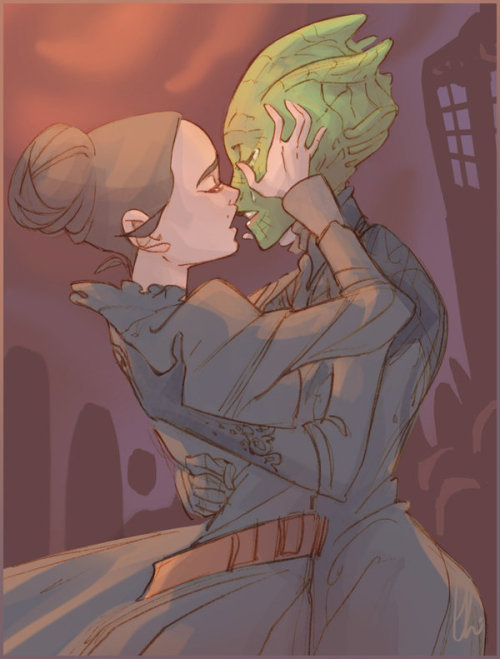 literatedead:  Let Vastra kiss her wife by *batlesbo No arguments here!