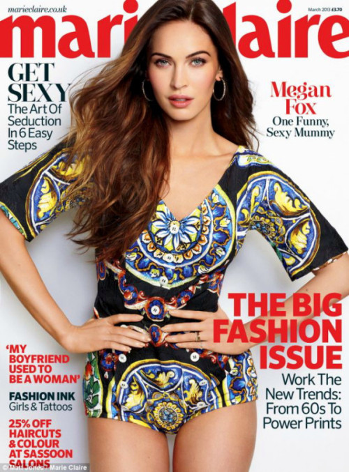 Megan Fox in Dolce&Gabbana covers Marie Claire, March 13
