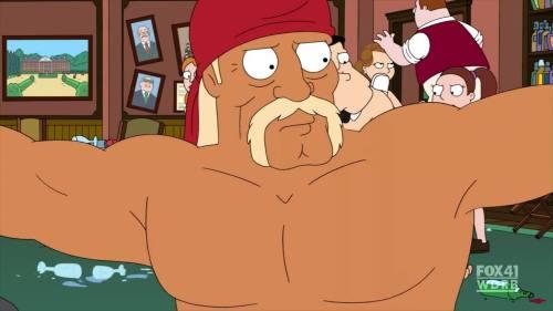 TV Show: American Dad Episode: Stanny Tendergrass (Season 8, Episode 9) Air Date: 1/29/2012 Wrestler(s) captured: Hulk Hogan (voicing as himself) IMDB Page: American Dad - Stanny Tendergrass