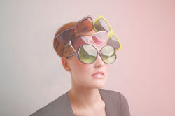 elisemesnerphotography:  Stacked Sunnies Sneak Preview!  HAIR STYLIST: Caitlyn KaiserMAKEUP ARTIST: Christine FitzpatrickMODEL: Santa DreimaneWARDROBE/PROP STYLIST: Angela BellLIGHT RIGGING OPERATOR: David ParisPHOTOGRAPHER/EDITOR: Elise Mesner
