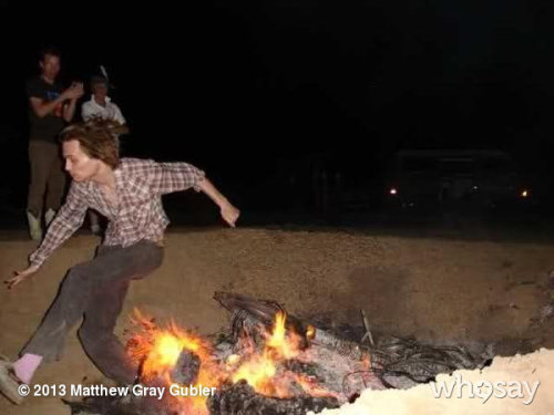 gublernation:  king of the fire jump View more Matthew Gray Gubler on WhoSay
