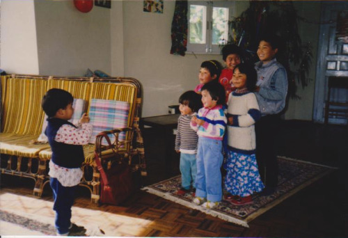 Christmas with siblings and cousins in Nepal, 1986 - This is why I don't really sing much. The role is so much more noble!!! : ) : ) : ) : )