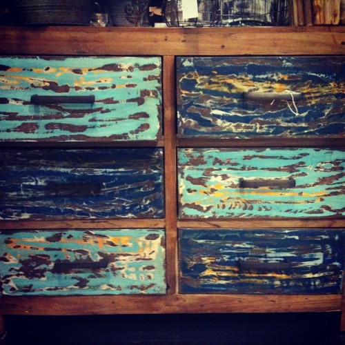 #drawer #rustic #antique #blue
