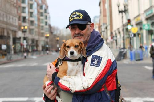 "humansofnewyork:  ""We're in charge of the memorial.""   (Boston, MA)"