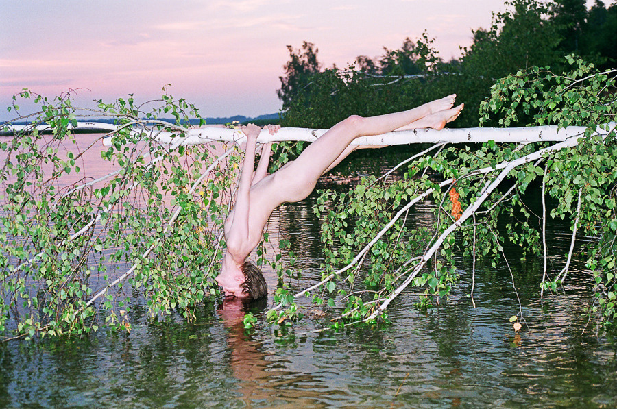 Deep in the forests of Ukraine live two spritely photographers named Tania and Roman who work together in perfect harmony under the name Synchrodogs to create some of the most surreal, confounding, intriguing, and beautiful photographs of naked people we have ever seen. We've featured them in the magazine before, but we're showcasing their work again because: 1) They're great, and 2) They just released a new monograph on Editions Du LIC entitled Byzantine. Above are some choice cuts from the book, but you should definitely pick up a copy, too, because they are gorgeous, and you can show them to your future children and explain how interesting Mommy and Daddy were when they were younger. More Photos