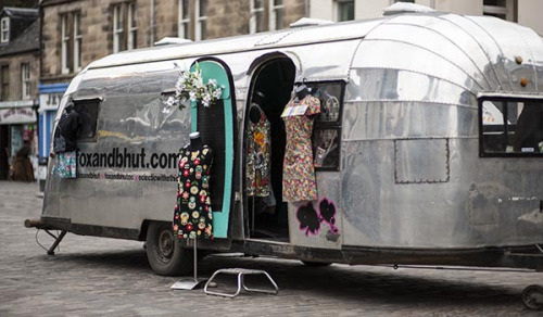 scotianostra:  Fox and Bhut  Mobile Shop, Cool Clothes, St Andrews http://www.foxandbhut.com/blog/  Love caravans, in every way.