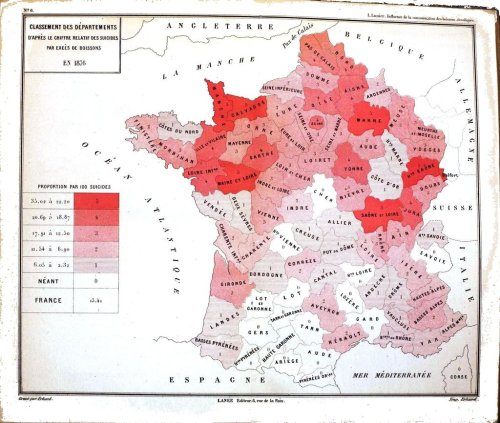 thelandofmaps:  Suicides in France, 1876CLICK HERE FOR MORE MAPS!thelandofmaps.tumblr.com