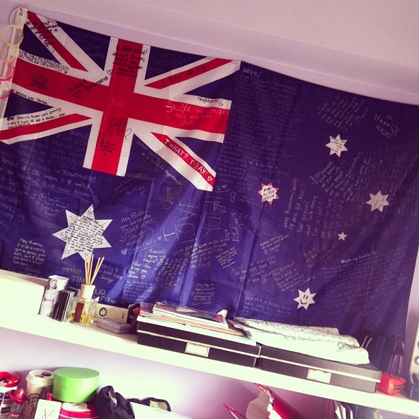 Happy Australia day!! My aussie flag is still hanging on my wall 4 years later <3