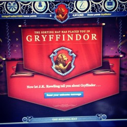 Yay. I'm so excited!!! 😆 Nick got into Gryffindor with me!!! @firenmetal55 ❤💛