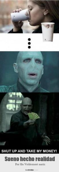 Dream come true, Voldemort finally would have a nose!