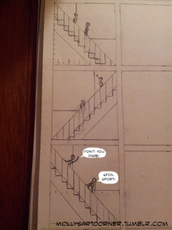 mollysartcorner:  Work in progress comic page.
