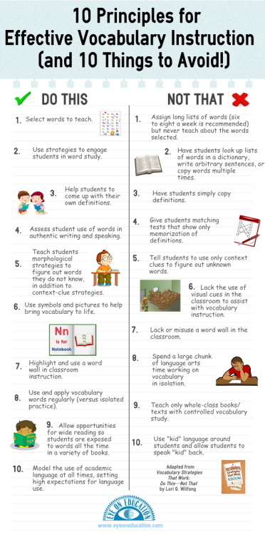 holtthink:  10 Principles for Effective Vocabulary Development