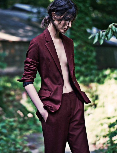 """stormtrooperfashion:  Manuela Frey and Mijo Mihaljcic in """"Two Years In"""" bySteven PanforHeroine Magazine,Fall/Winter 2014"""
