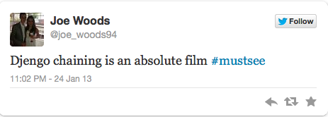 @Stevey_R submitted to dumbesttweets Worst review ever. Especially since it gets the name of the film wrong and seemed to have quit mid-sentence.