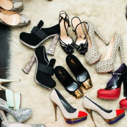 thecoveteur:  What will it be today, @juneambrose? 👠👠👠 #instagood