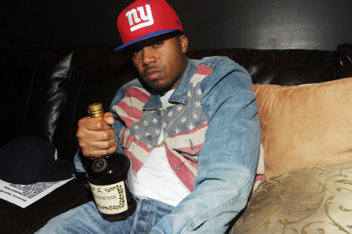 Men's Fashion Flash: Nas's Hennessy Super Bowl Afterparty Denim & Supply Flag Print Denim Jacket