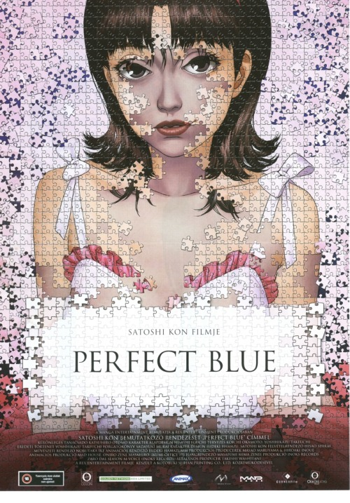 "animecovers:  ""Perfect Blue"" (パーフェクトブルー Pāfekuto Burū) is a 1997 Japanese animated psychological thriller film directed by Satoshi Kon and written by Sadayuki Murai based on the novel of the same name by Yoshikazu Takeuchi."