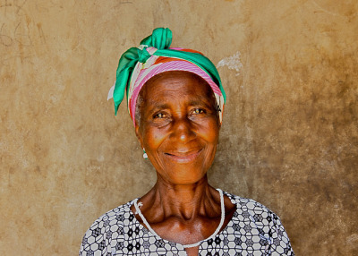 Green headscarf, Woadze, Volta Region, Ghana by MJ Reilly on Flickr.Martin Reilly