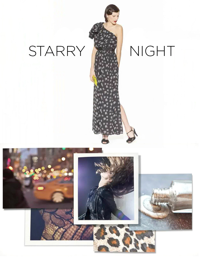 Starry Night Moodboard for the Kate Young for Target collection.