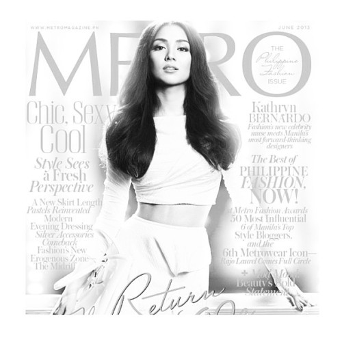 my sister @bernardokath on the cover of Metro June issue.