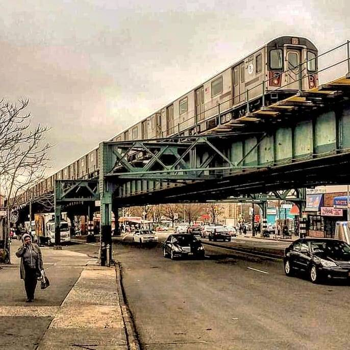 A No. 2 train runs up White Plains Road in Pelham Parkway North,  #the_Bronx. #New_York_City_Subways  #mtanyctransit https://www.instagram.com/p/CL8KtXzJR3O/?igshid=u2qc2y4ca1t1 #the_bronx#new_york_city_subways#mtanyctransit#photography#newyorkcity#nyc#nycphotography#subwayphotography#subwayarchitecture#subwaytrains#elevatedsubways#nytransitmuseum#bronx#nyc_explorers#abc7ny#cbsnewyork#nypix#ny1pic#bronxnyc#projectbronx#thebronxisbeautiful#bronxbestshots#intheboogiedown#everydaybronx#seeyourcity#timeoutnewyork#online_newyork#streetphotography#tv_transport#mtaartsdesign