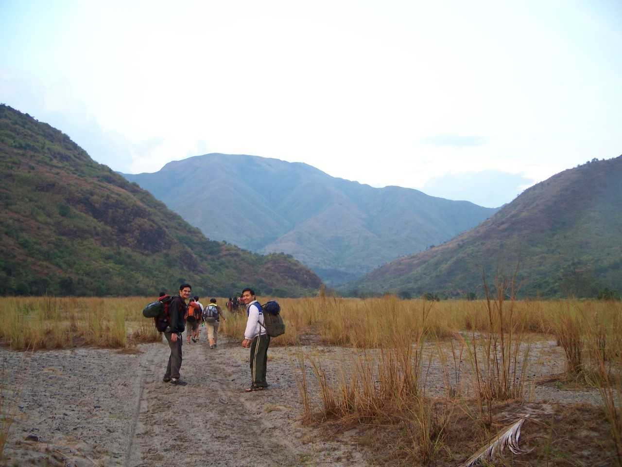 superbart:  Start of an overnight traverse at Pundaquit, Zambales to get to Anawangin Cove. April 2, 2008.  wow! this shot was over 5 years ago. This is me and a friend. we're colleagues now. ang bilis ng panahon. ;)