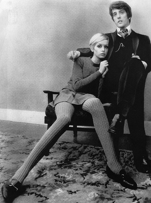theswinginsixties:  Twiggy and Justin de Villeneuve