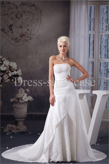 Wonderful A-Line Strapless Wedding Dress http://www.Dress-ShowCase.com/Wonderful-A-Line-Strapless-Wedding-Dress-p20984.htmlView Post