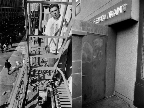 California diptych: James on his fire escape. San Francisco 2010 / Sacramento 2012.