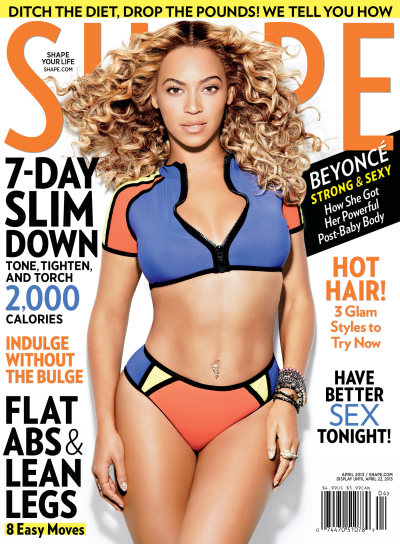 SHAPE Magazine April 2013 Photographer: Cliff Watts Model: Beyonce