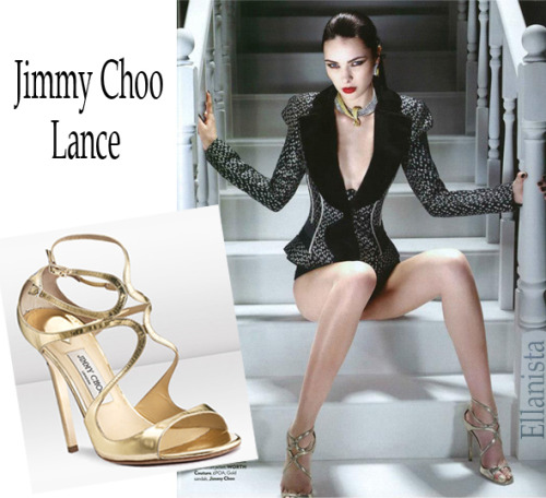 Jimmy Choo gold 'Lance' sandals