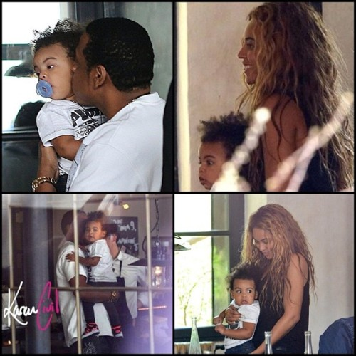 #BlueIvy having #lunch in #Paris #food #glamour #fashion #hair #werk #beyonce #cute #adorable #omg #celebrity #Beyhive #love #life #today