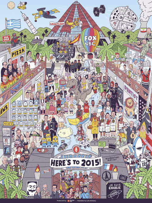 2015 in One Giant Illustration by Beutler Ink(enhance!)