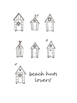 Today I love beach huts!  illustration by Ilaria Vallone