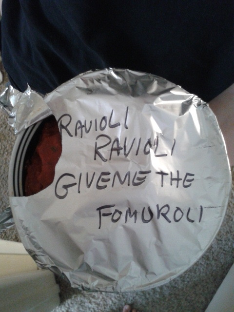This is what happens when we label leftovers at our house.