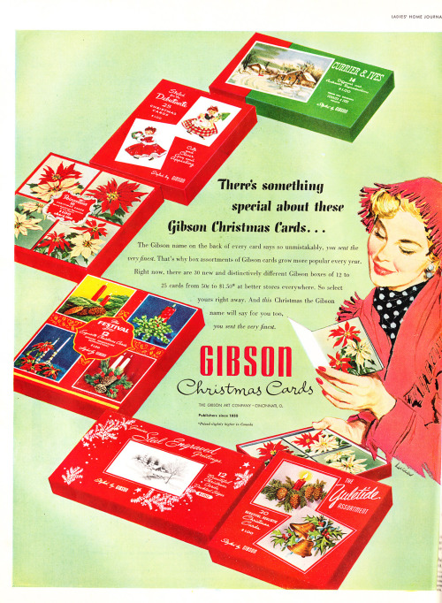 Gibson Christmas Cards - published in Ladies' Home Journal - December 1953Copyright © retro-space on Flickr.  All rights reserved.